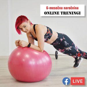Online treningi Sportas, 6 mesečna naročnina